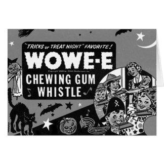 Kitsch Vintage Wowee Wax Gum Halloween Greeting Cards