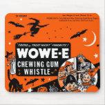Kitsch Vintage Wowee Wax Gum Halloween Mousepad