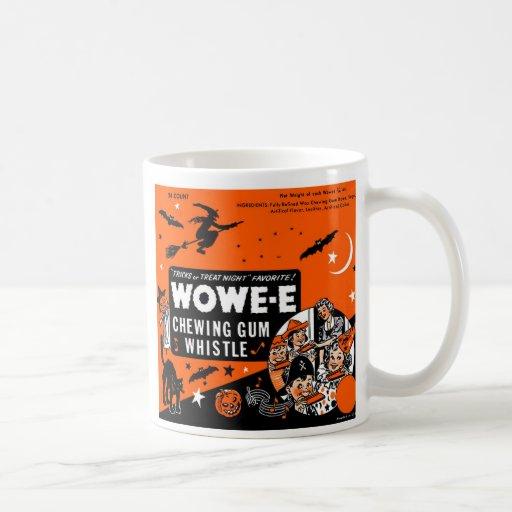 Kitsch Vintage Wowee Wax Gum Halloween Mugs