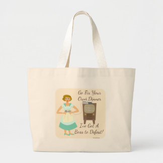 Kitschy Gaming Housewife Large Tote Bag