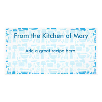 Kitschy Kitchen Recipe Card