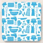 Kitschy Kitchenware Pattern Drink Coasters