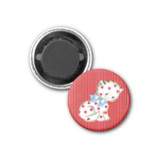 Kitschy Kitty 1 Inch Round Magnet