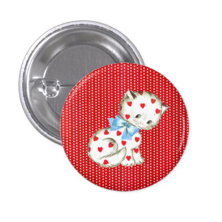 Kitschy Kitty Pinback Button