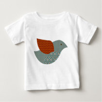 Kitschy Pattern Dove Baby T-Shirt