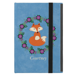 Kitschy Red Fox/Floral Wreath iPad Mini Case