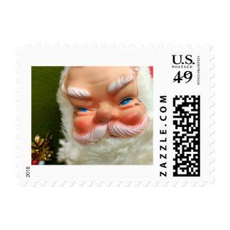 Kitschy Santa Claus Stamps