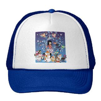 Kitsu Winter Collage Caps Trucker Hat