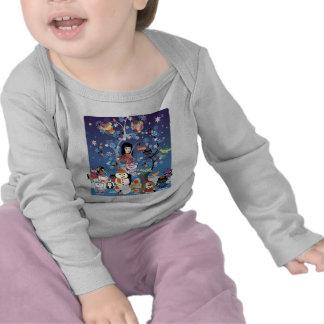 Kitsu Winter Collage Long Sleeve Infant  T Shirts