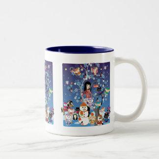 Kitsu Winter Collage Mug