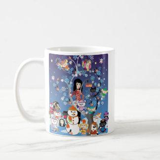Kitsu Winter Collage Mug -Single Image