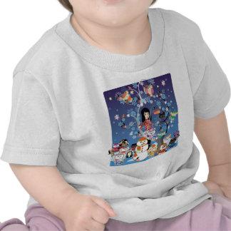 Kitsu Winter Collage White Infant T-Shirts