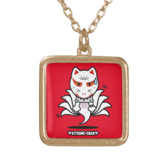 ♥Kitsune-Chan♥ (Astral projection) Gold Plated Necklace