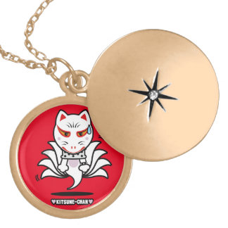 ♥Kitsune-Chan♥ (Astral projection) Locket Necklace