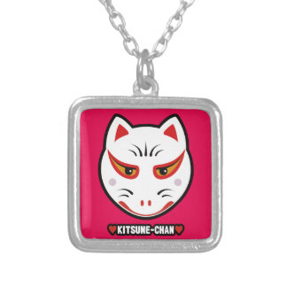 ♥Kitsune-Chan♥ Silver Plated Necklace