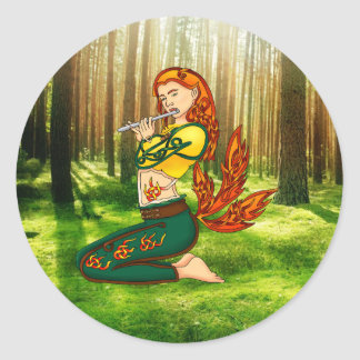 Kitsune Classic Round Sticker