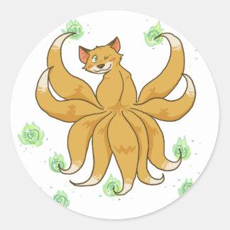 Kitsune Foxfire Sticker