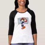 Kitsune Geisha 3/4 Sleeve Raglans T-shirt