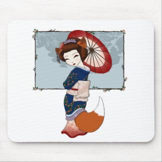 Kitsune Geisha Mousepad