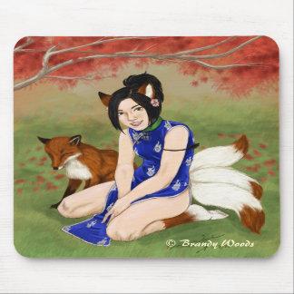 'Kitsune Girl' Mouse Pads
