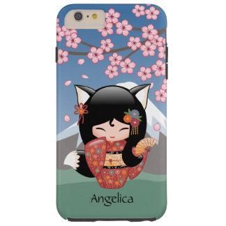 Kitsune Kokeshi Doll - Black Fox Geisha Girl Tough iPhone 6 Plus Case