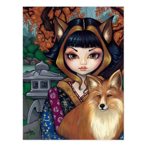 """""""Kitsune"""" Postcard"""