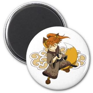 Kitsune Samurai Magnet