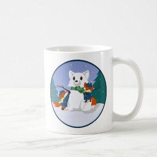 Kitsune Snow Day Mugs