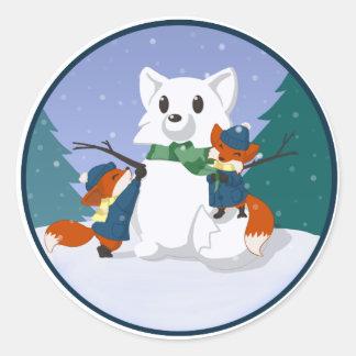 Kitsune Snow Day Stickers