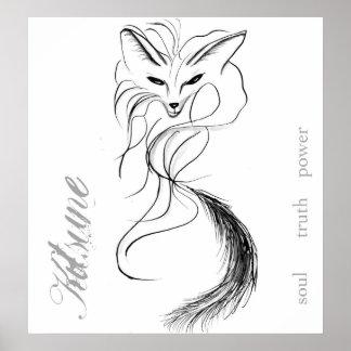Kitsune Spirit Poster