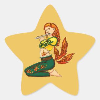 Kitsune Star Sticker