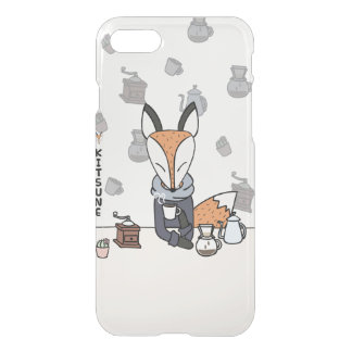 KITSUNE THE SLOW LIFE FOX : COFFEE CLEAR CASE