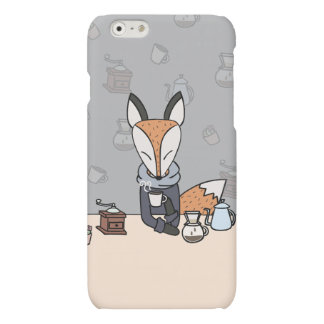 KITSUNE THE SLOW LIFE FOX : COFFEE MATTE iPhone 6 CASE