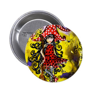 Kitsy la bruja (color) pins