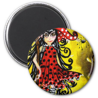 Kitsy the witch (color) fridge magnets