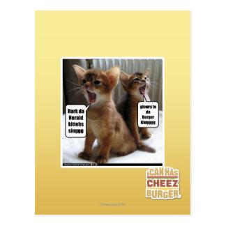 Kitteh carols postcard