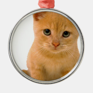 Kitteh.png Round Metal Christmas Ornament