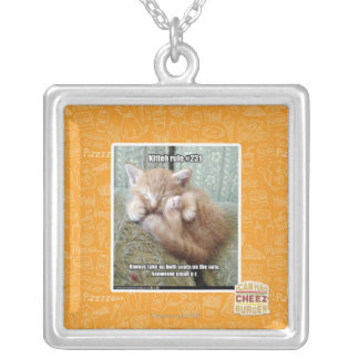 Kitteh rule #231 silver plated necklace