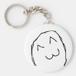 Kitteh Smile Troll Keychain
