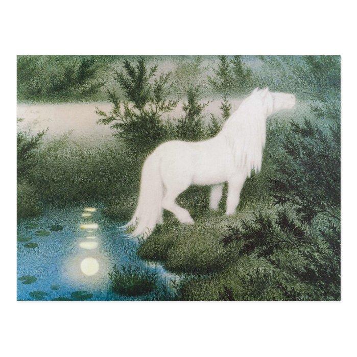 Kittelsen The neck as a white horse CC0823 Postcard