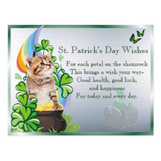 Kitten #1 St Pattys Day You've Got Mail Version 2 Postcard