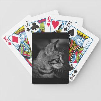 kitten-405333 BLACK WHITE SIDE kitten black white Bicycle Playing Cards