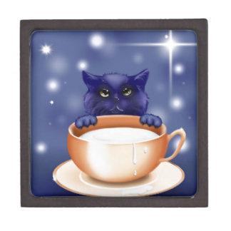 kitten-83660 CUTE KITTEN CAT CARTOON ANIMATIONS TE Premium Keepsake Box