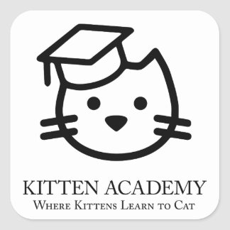 Kitten Academy - Kittens Learn To Cat Sticker