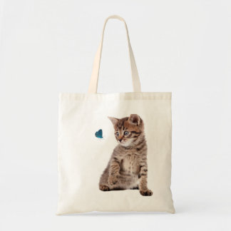 Kitten and Butterfly image for Tote-Bag Tote Bag