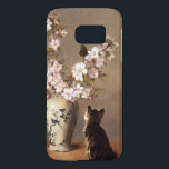 "Kitten and Butterfly Samsung Galaxy S7 Case<br><div class=""desc"">Simply charming! A darling kitten may be cooking up trouble as it stares intently at the butterfly that has come to rest on a branch of white blossoms in an expensive vase. This oil painting was created circa 1870 by the American painter John Henry Dolph, renowned for his touching depictions...</div>"