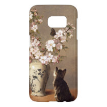 Kitten and Butterfly Samsung Galaxy S7 Case