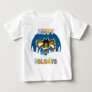 Kitten and Colorful Happy Holidays Infant T-shirt
