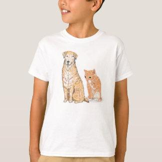 Kitten and Dog tshirt