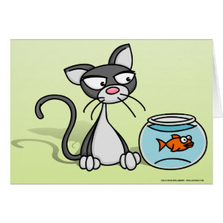 Kitten and Fishbowl Card